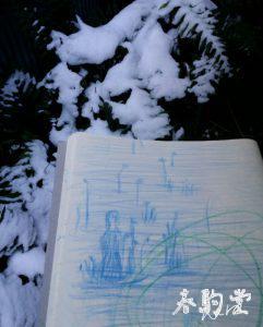 雪とお絵描き